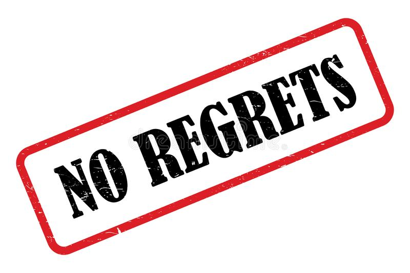 No regrets heading. On white background vector illustration