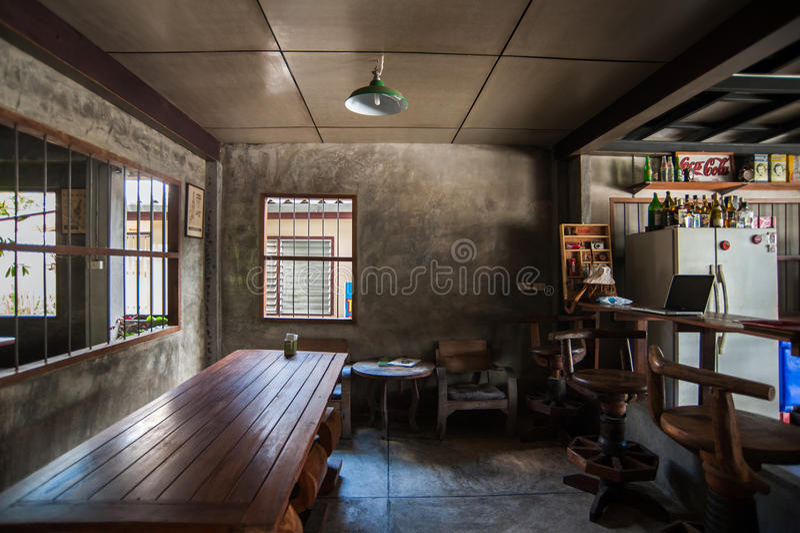 No restaurante tailandês exterior foto de stock