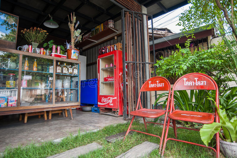 No restaurante tailandês exterior fotos de stock royalty free