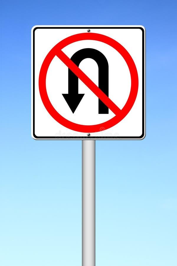 No return back road sign stock illustration