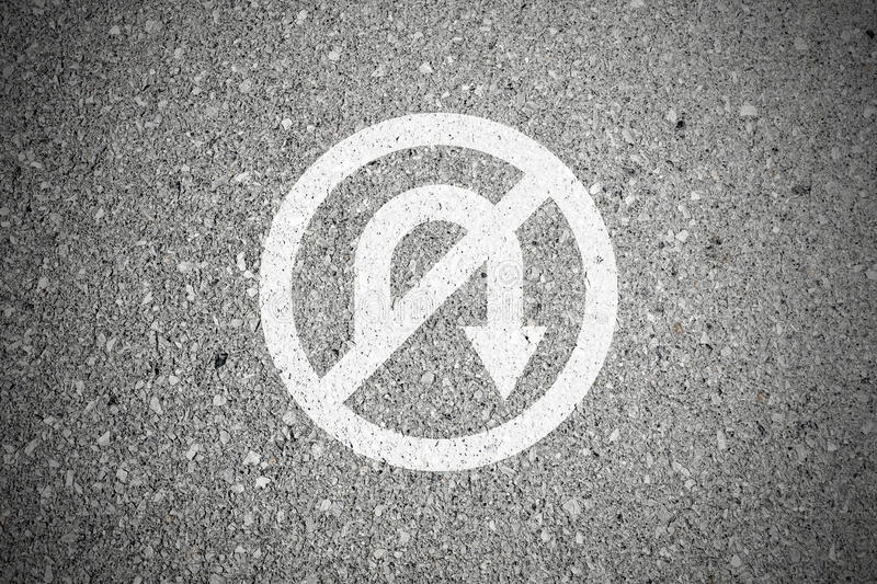 No return sign on the road stock images