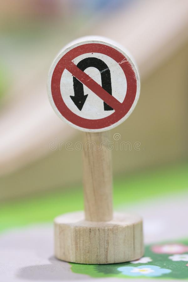 No return sign - Toy Set Street Signs - Play set Educational toy. S for preschool indoor playground royalty free stock photography