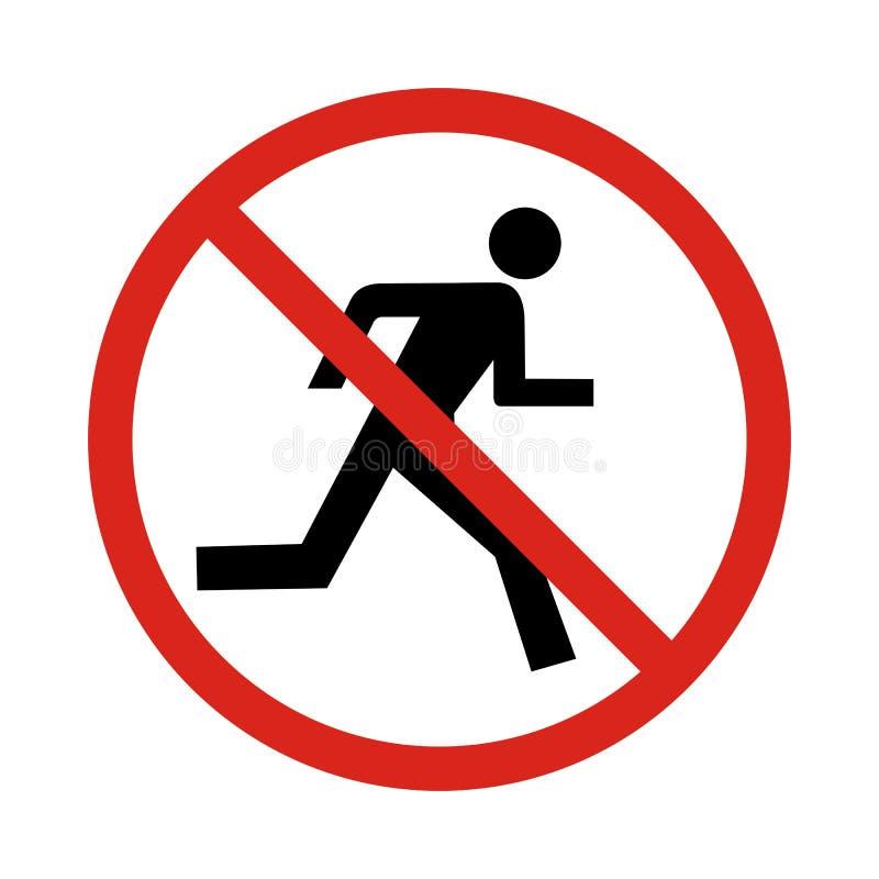 No run sign,. Illustration stock illustration