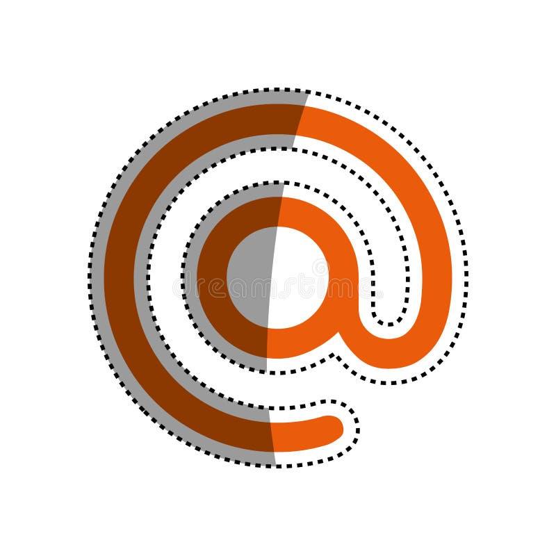 No símbolo do email ilustração do vetor