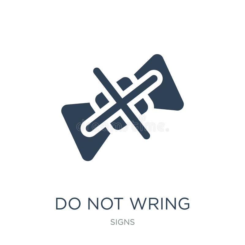 no saque el icono en estilo de moda del diseño no saque el icono aislado en el fondo blanco no saque el icono del vector simple y stock de ilustración