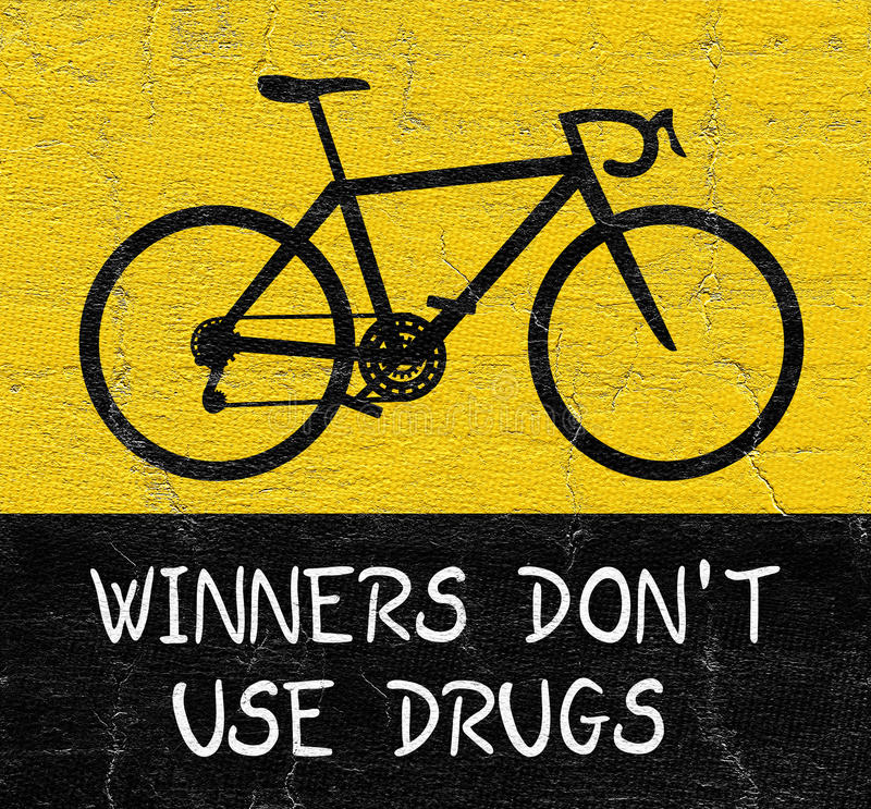 No se divierta ninguna droga stock de ilustración