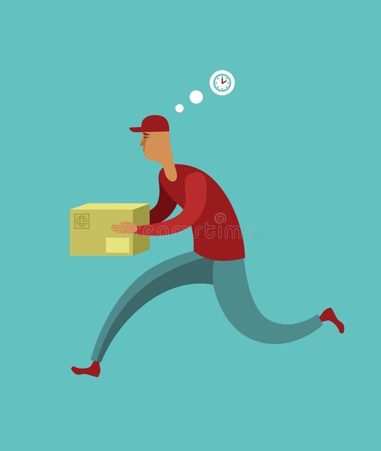 No serviço de correio do tempo ilustração stock