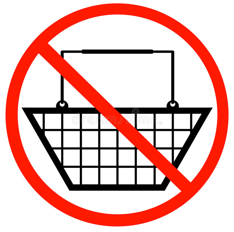 No shopping baskets