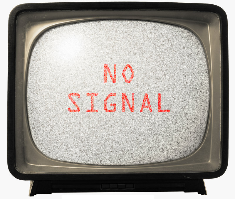 No Signal TV noise. Noise on old TV screen. Retro Television concept. No signal royalty free stock photography