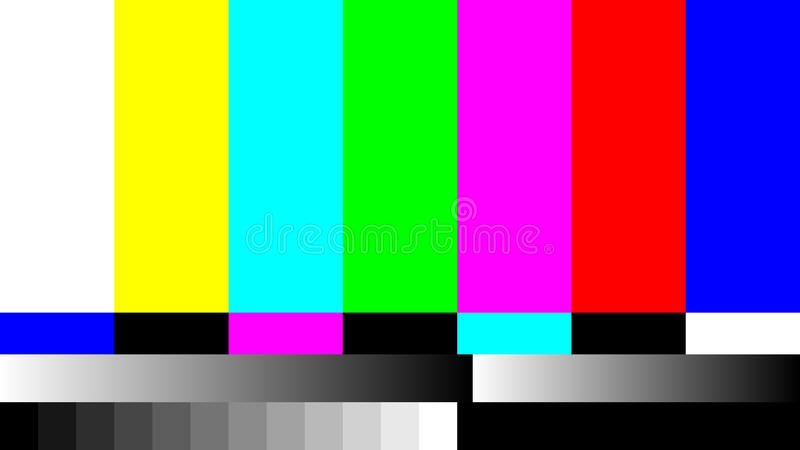 No Signal TV retro television test pattern. Color RGB Bars Illustration vector illustration
