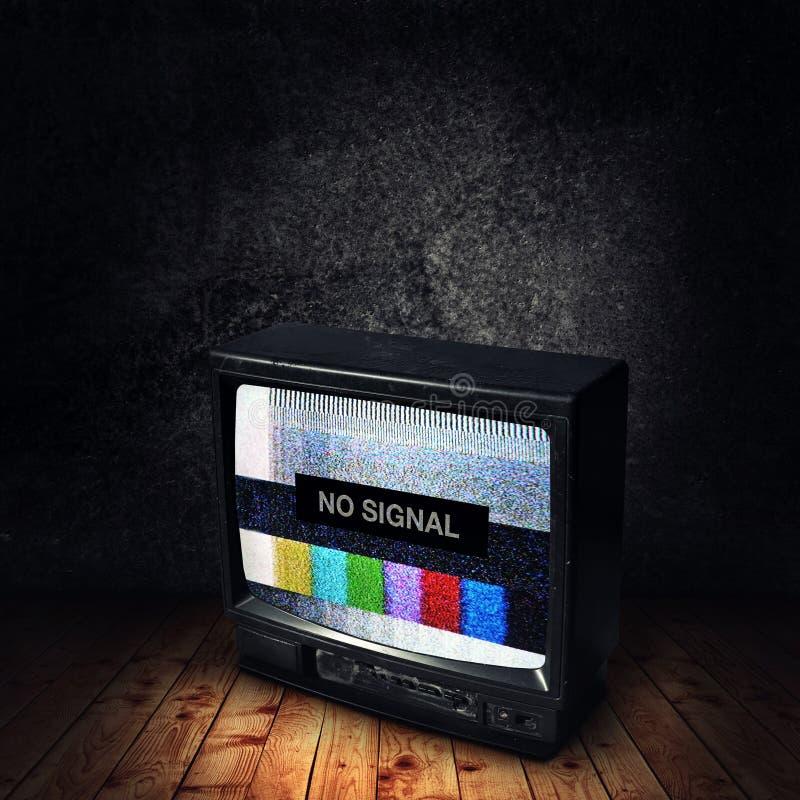 No Signal On TV Royalty Free Stock Photos