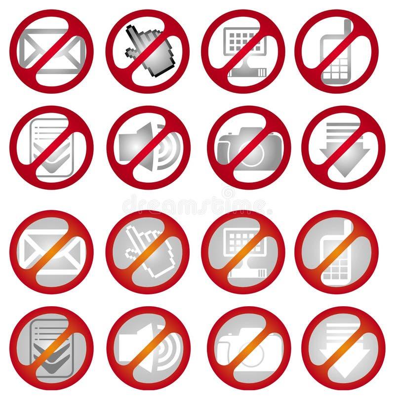 No signs vector illustration