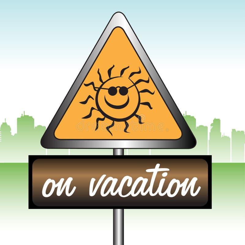 No sinal das férias ilustração do vetor