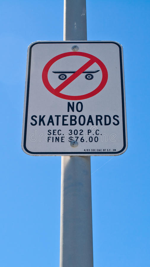 Download No Skateboards stock photo. Image of white, blue, post - 26613944
