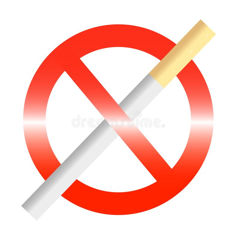Download No smoke sign stock vector. Illustration of cigarette - 19662863