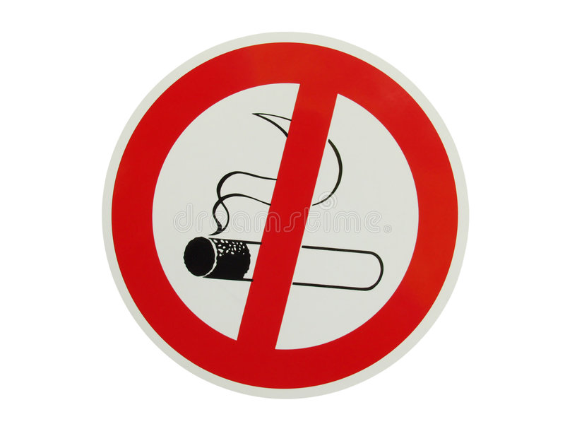 No smoking. Sign, isolated on white royalty free stock photography