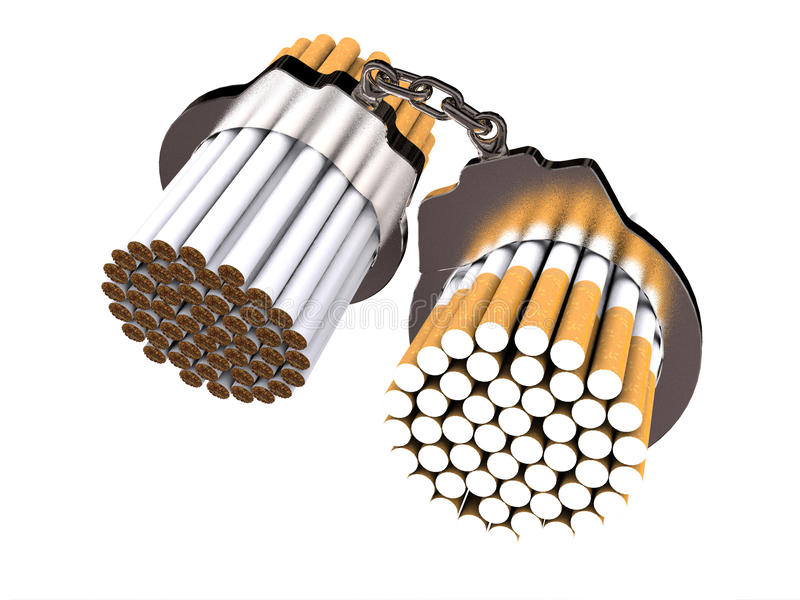 No smoking. On white background (computer generated image stock illustration