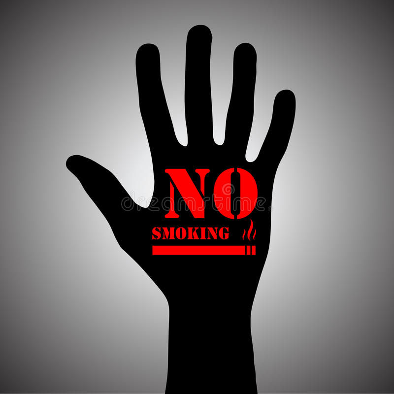 Download No smoking stock vector. Image of hand, issues, healthy - 28273447