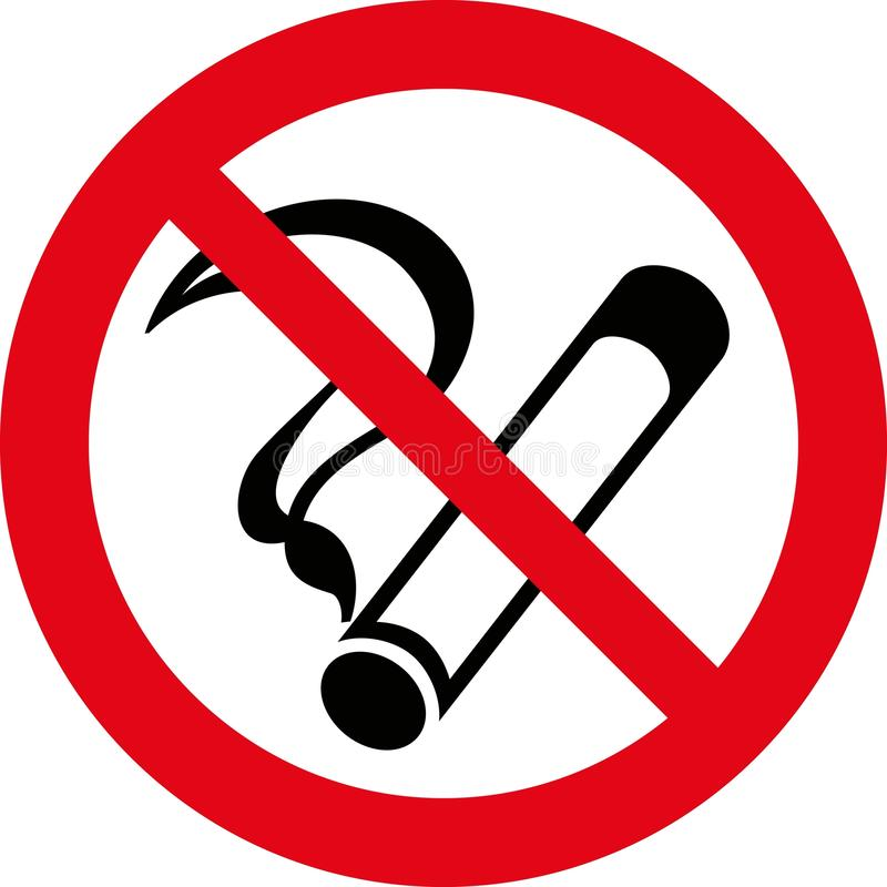 no smoking 7 vector stock vector illustration of sign 10012983 rh dreamstime com no smoking vector image no smoking vector free