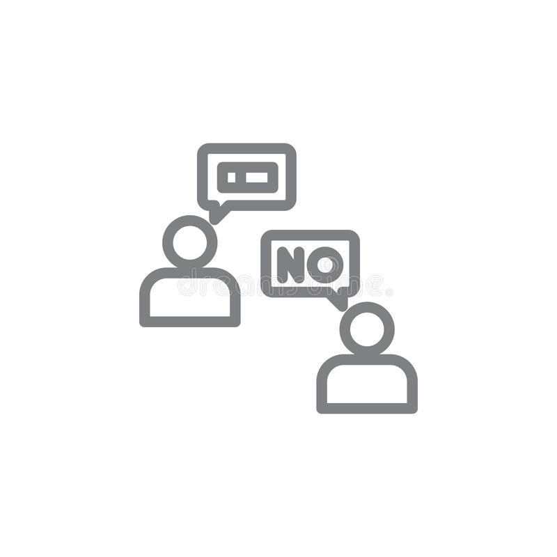 No smoking dialogue outline icon. Elements of smoking activities illustration icon. Signs and symbols can be used for web, logo, vector illustration