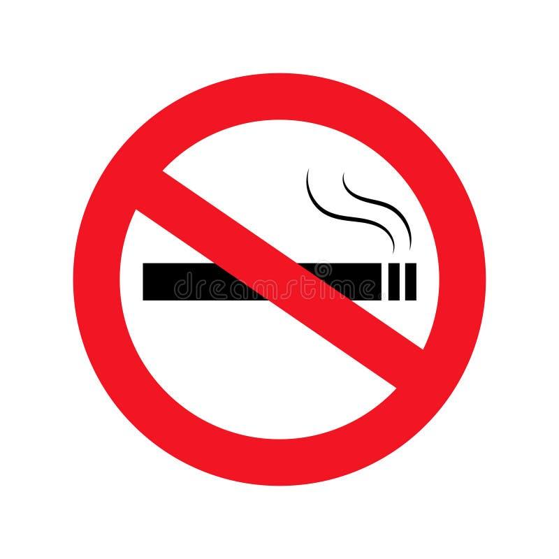 No smoking icon in flat style. Dont smoke. Smoking prohibited simbol. Stop smoking.  eps10. No smoking icon in flat style. Dont smoke. Smoking prohibited simbol royalty free illustration