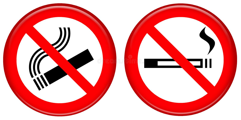 No smoking icon royalty free stock photos