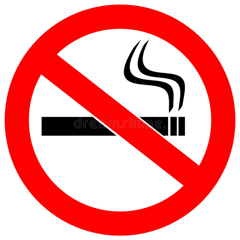 No smoking sign royalty free illustration