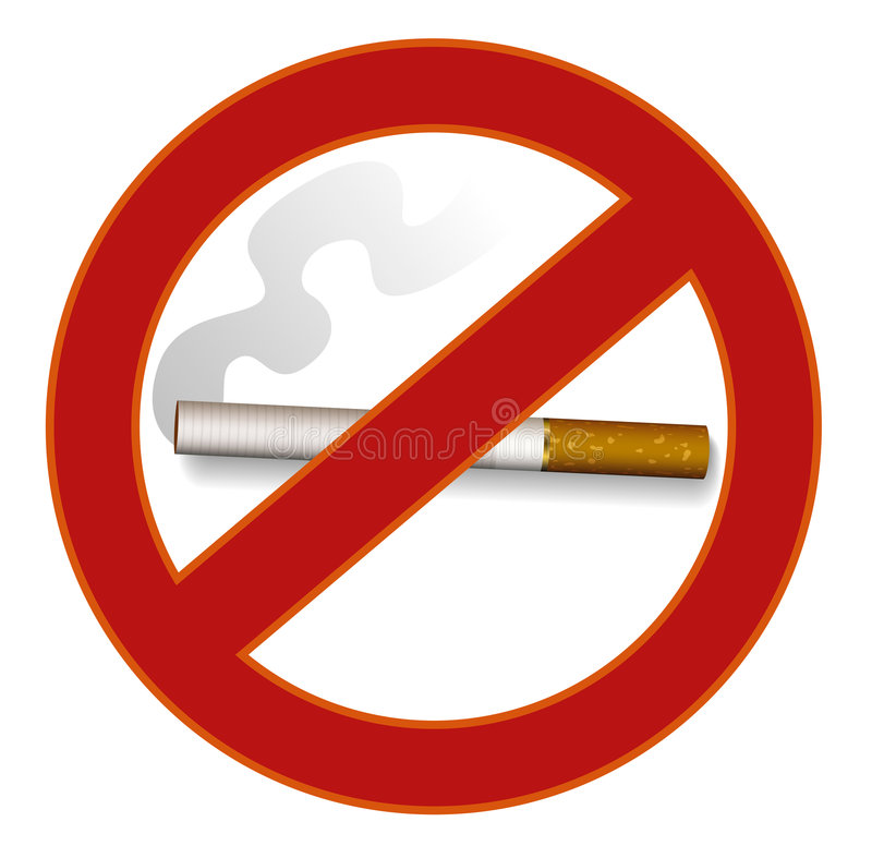 Download No smoking sign stock vector. Image of abandon, carcinogen - 1985385