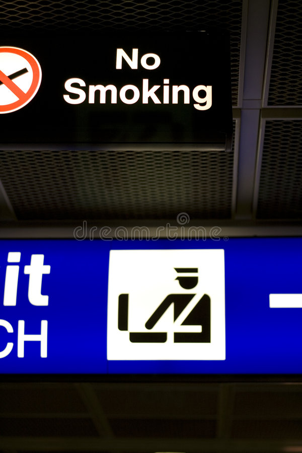 Download No Smoking Sign in Airport stock image. Image of figure - 7666211