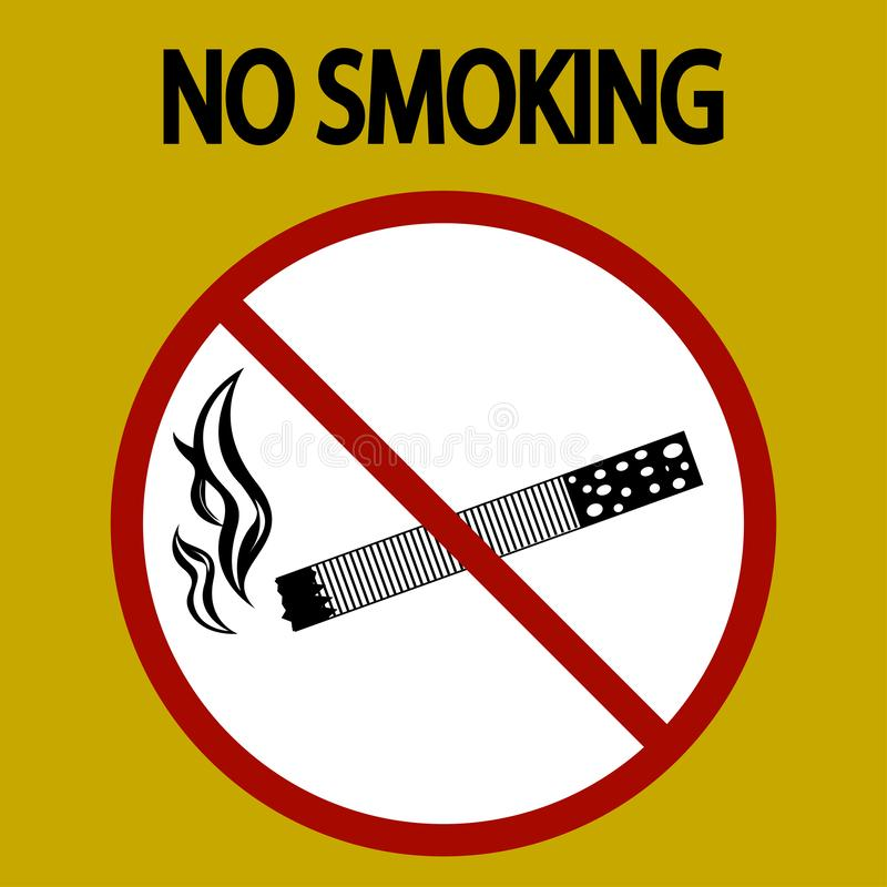 No smoking sign danger, tobacco- vector - eps 8 stock image