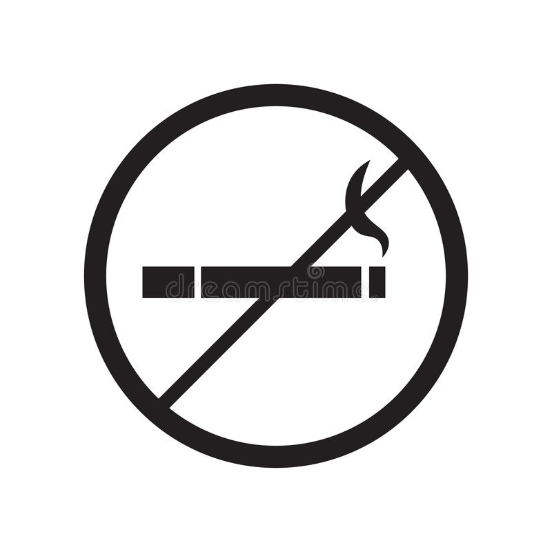 No Smoking Sign icon vector sign and symbol isolated on white background, No Smoking Sign logo concept stock illustration