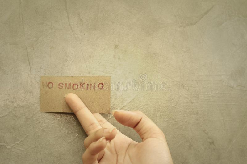 No smoking sign in the public park. royalty free stock images