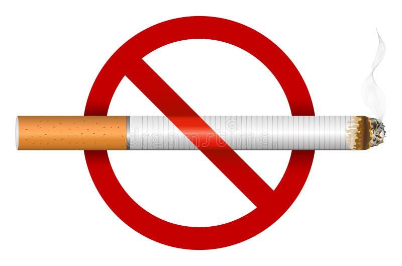 No smoking sign. On a white background stock illustration