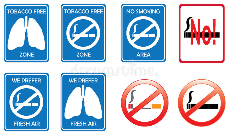 Download No smoking signs stock vector. Image of here, permit - 15654743