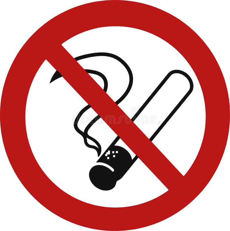 No smoking sign on white background stock images