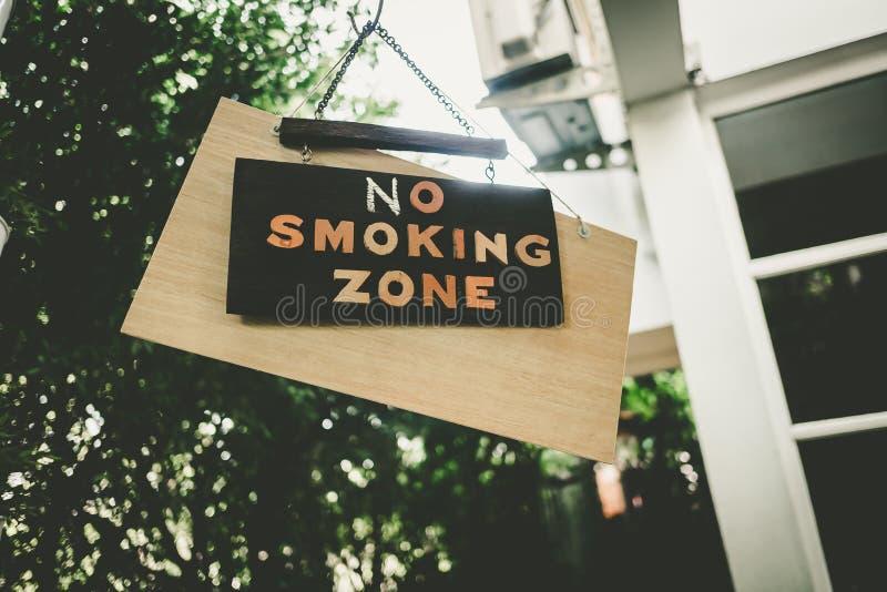 No smoking zone sign royalty free stock image