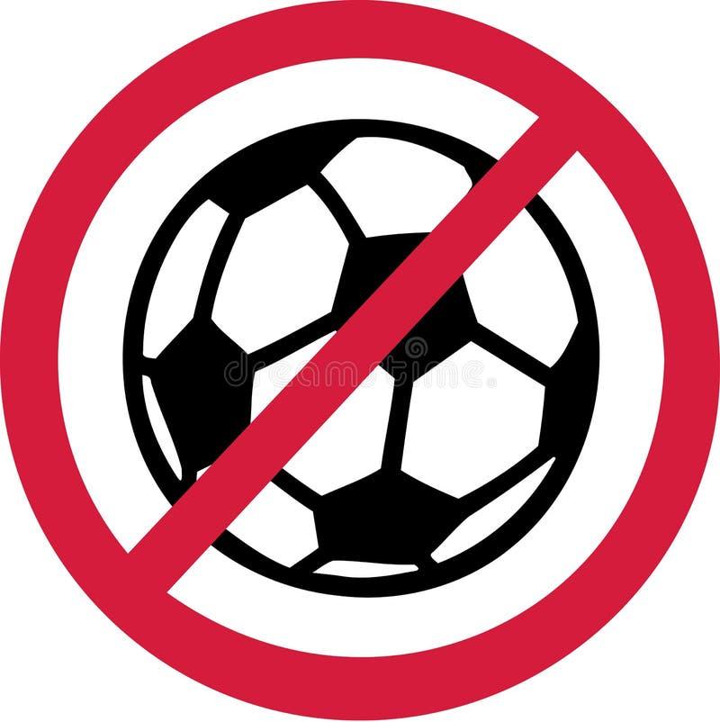 No Soccer Football Ban royalty free illustration
