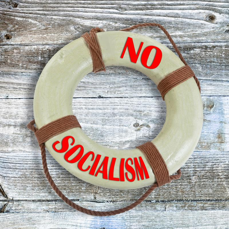 Free No Socialism Lifesaver Stock Image - 144709491