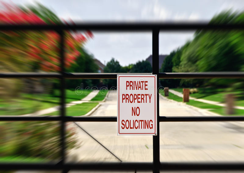 No soliciting sign royalty free stock photography