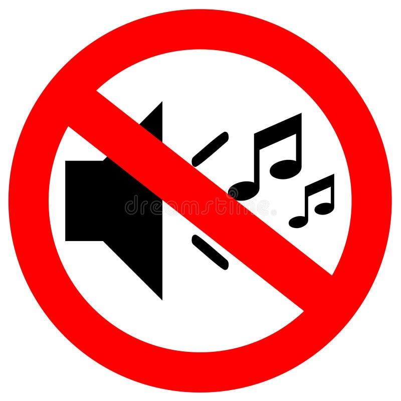 Download No sound sign stock illustration. Image of forbidden - 23776664