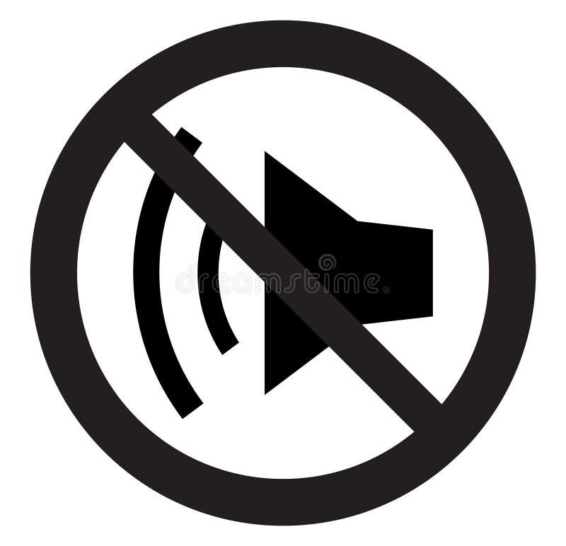 No sound symbol vector illustration