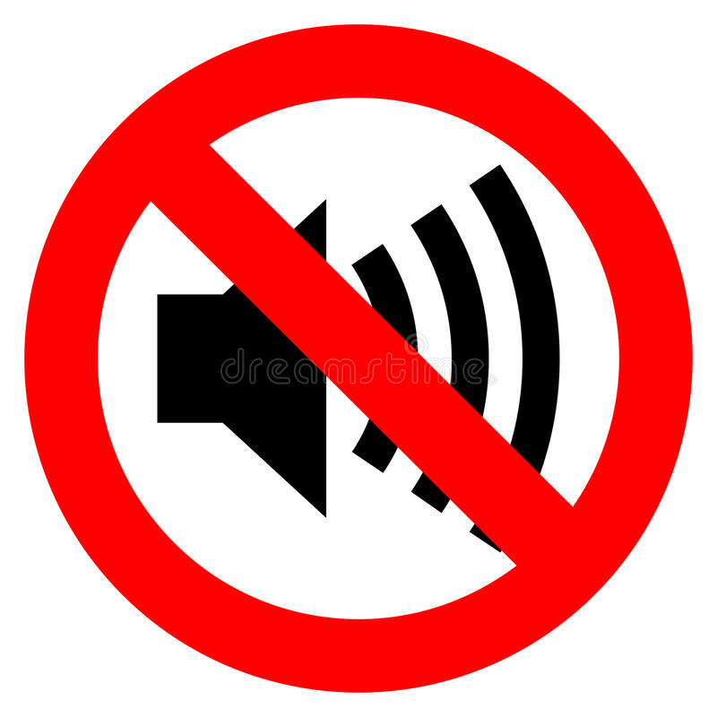 Free No Sound Vector Sign Stock Images - 34881584