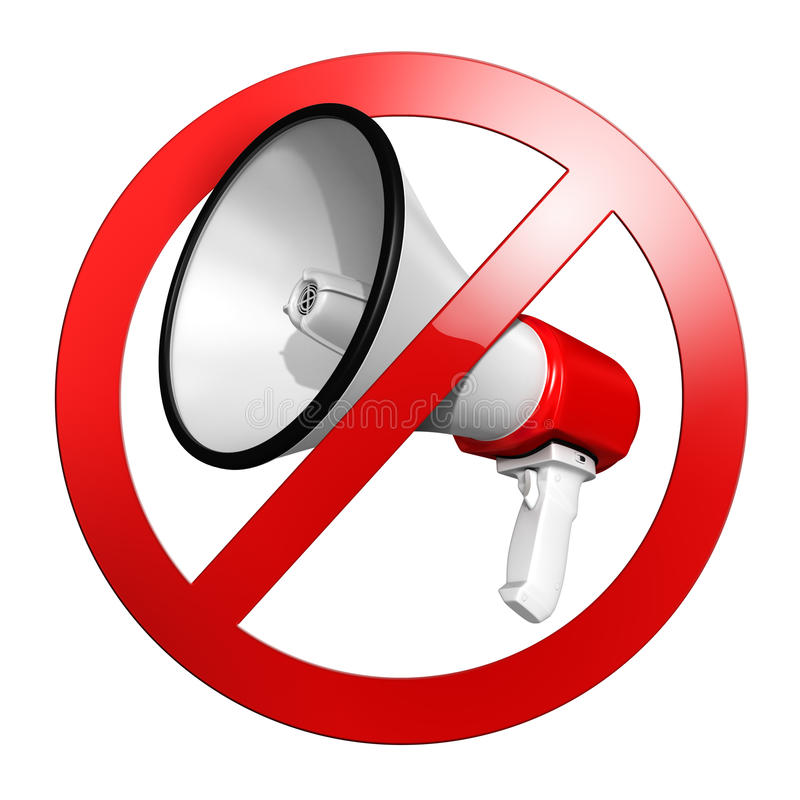 No speak sign or keep quiet royalty free illustration