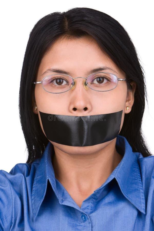 No speech freedom stock photo