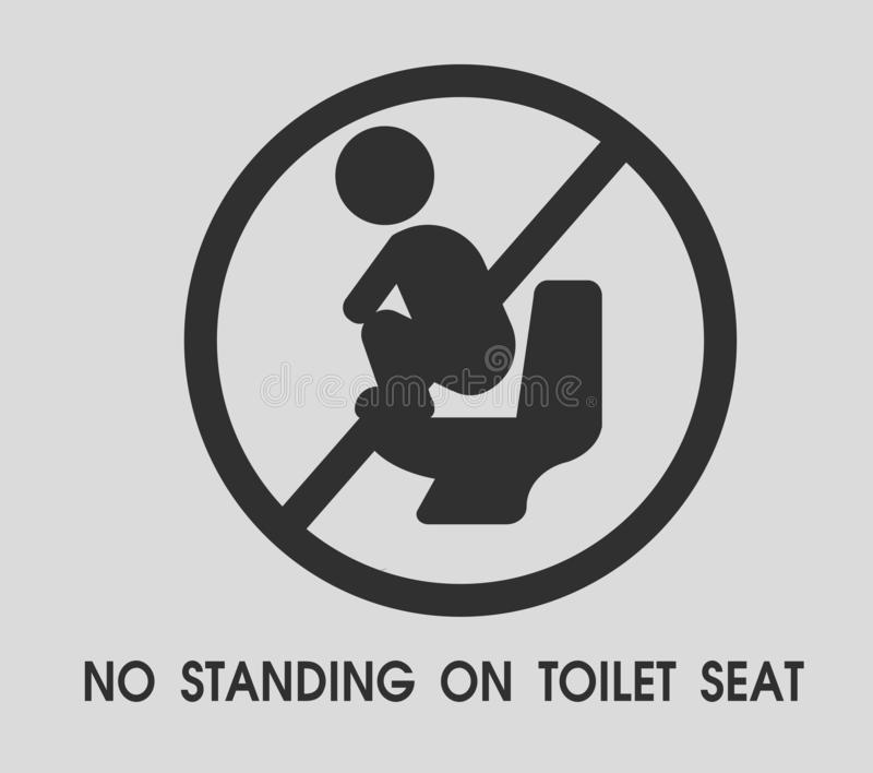 No standing on toilet seat. Toilet sign themes That looks simple and modern. Illustration Vector EPS10.  vector illustration