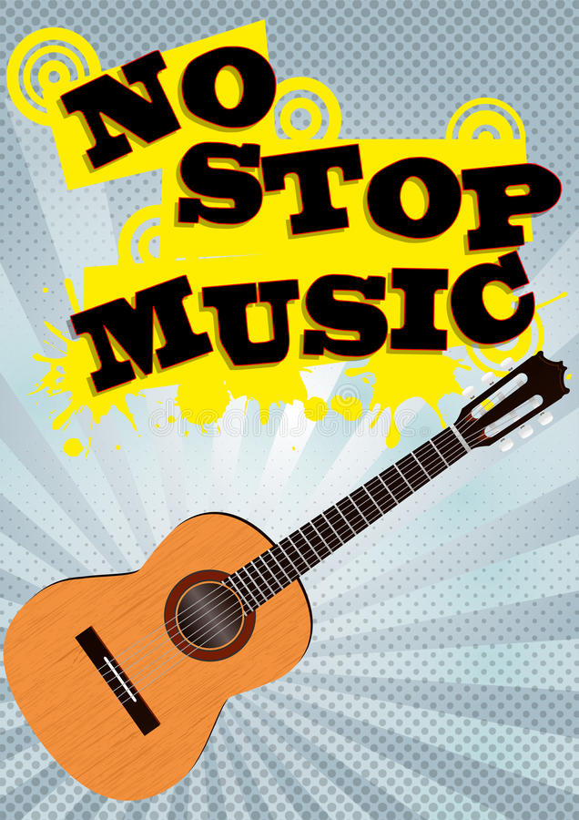 Download No stop music stock vector. Image of concept, style, background - 26308174