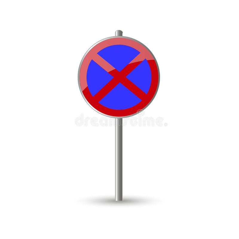No stopping traffic sign stock illustration