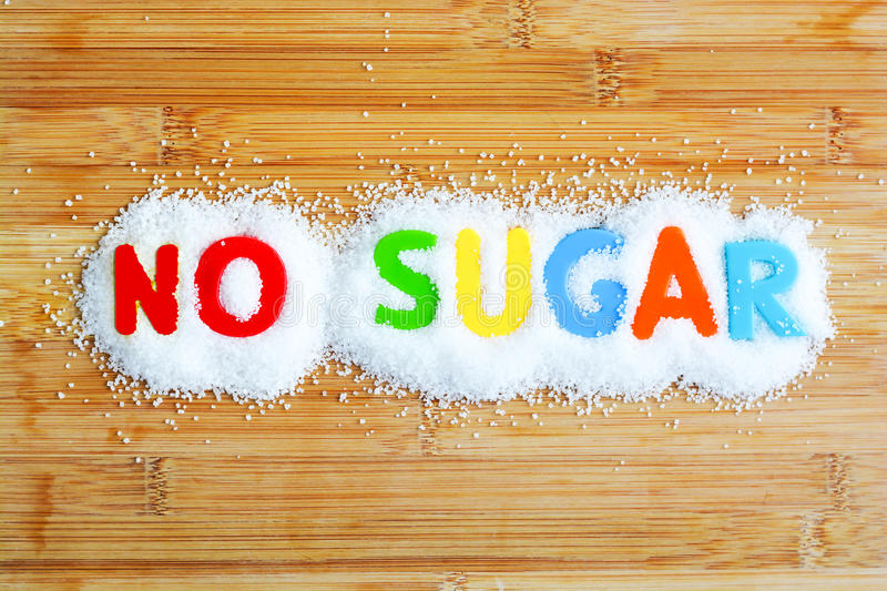 No sugar text from magnetic letters royalty free stock images