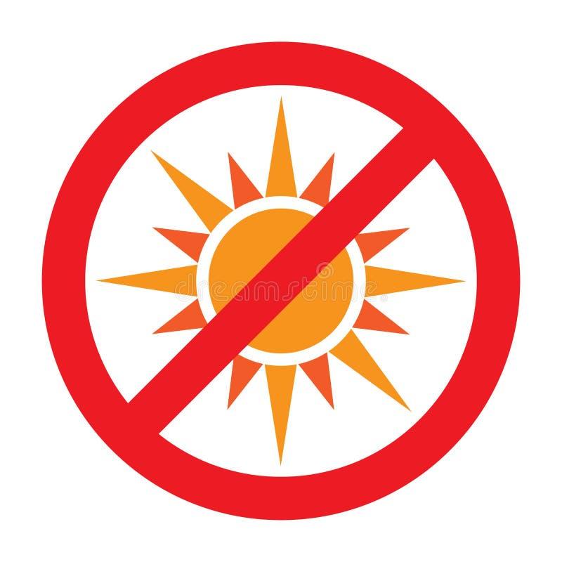 Free No Sun Symbol Stock Photography - 124700072