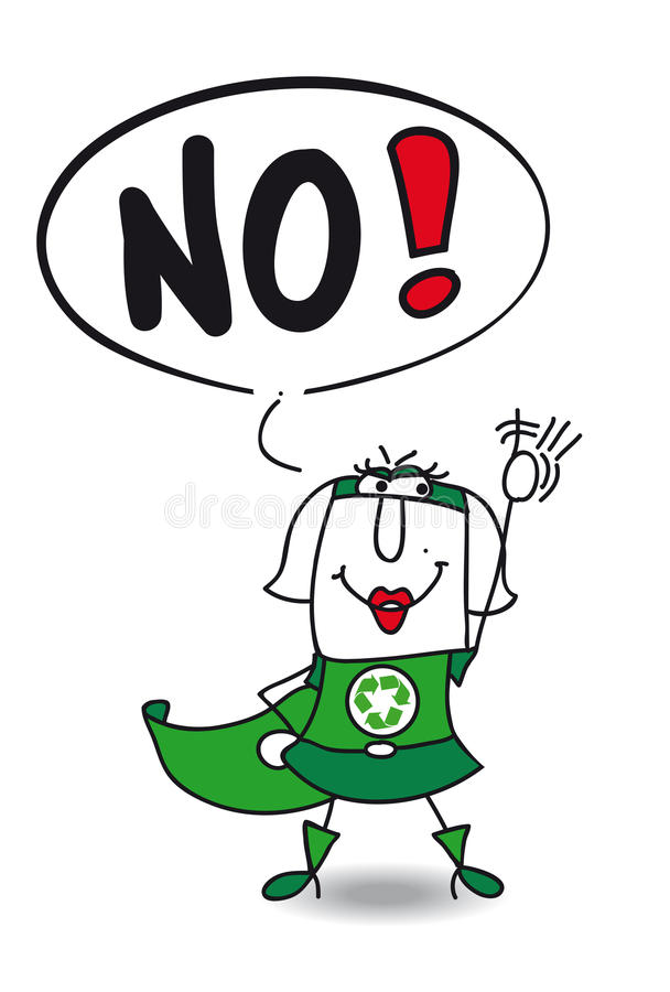 Free No Super Recycling Woman Royalty Free Stock Photography - 54044807